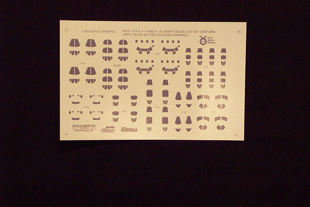 Aircraft Canopy Decals 1 350 Scale